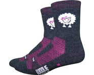 """DeFeet Woolie Boolie 4"""" Baaad Sheep Sock (Charcoal/Neon Pink) 