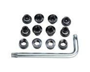 FSA Torx T-30 Alloy Road Triple Chainring Nut/Bolt Set w/ Tool (Black) | product-related