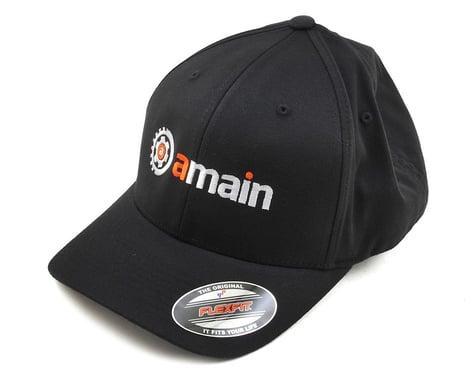 AMain FlexFit Hat w/Gears Logo (Black) (S/M)