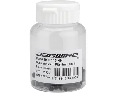 Jagwire Open Brass End Caps (Black) (4mm) (Bottle of 50)