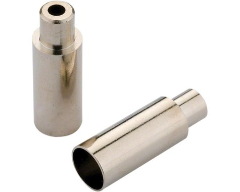Jagwire Step Down Open End Caps (Chrome Plated) (5mm to 4mm) (Bottle of 100)