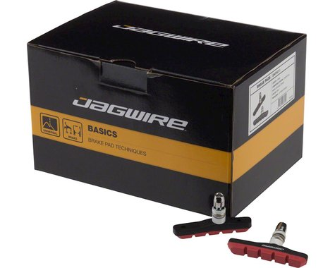 Jagwire Mountain Sport V-Brake Pads (Red) (25 Pairs)