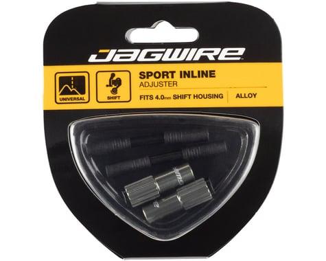 Jagwire Sport 4mm Mini Inline Barrel Cable Tension Adjusters (Titanium) (2)