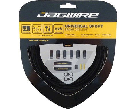 Jagwire Universal Sport Brake Cable Kit (Black) (Stainless) (1350/2350mm) (2)