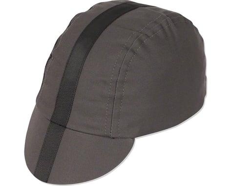 Pace Sportswear Classic Cycling Cap (Charcoal w/ Black Tape) (M/L)