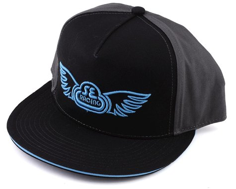 SE Racing Wing Logo Hat (Black/Grey) (Universal Adult)