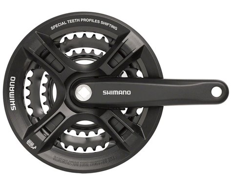Shimano Altus FC-M311 Crankset (Black) (3 x 7/8 Speed) (Square Taper) (170mm) (48/38/28T)
