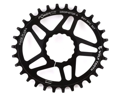 Wolf Tooth Components Elliptical CINCH Direct Mount Chainring (Black) (Boost) (3mm Offset (Boost)) (30T)